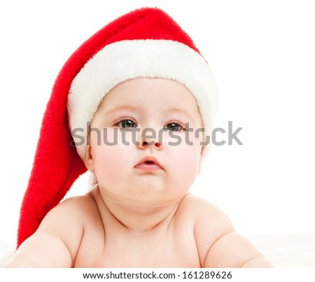 Baby  in a red hat