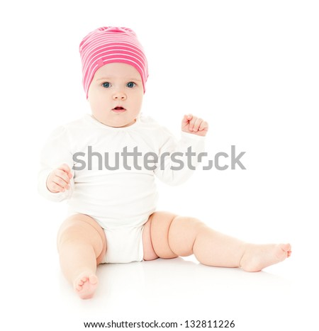 baby in the cap. isolated.