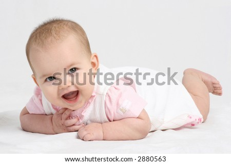 baby laughing - stock photo