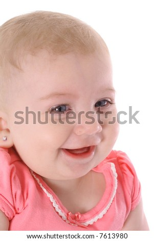 baby laughter - stock photo