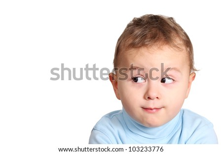 Baby looking your product - stock photo