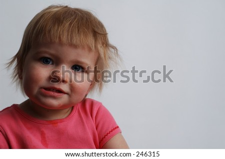 Baby making faces