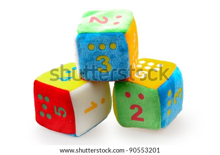 Baby Number Blocks isolated on a white background - stock photo