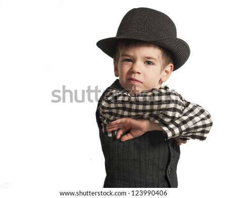 Baby of the Wild West - stock photo