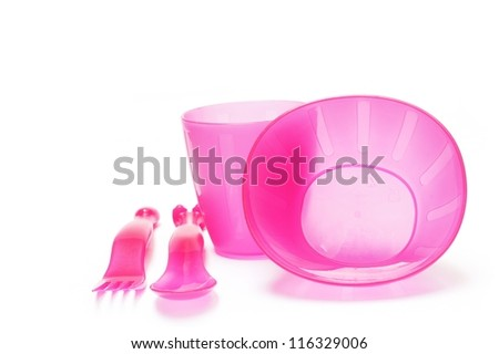 baby plastic dishes set