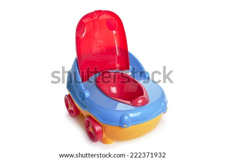 baby potty on white background - stock photo