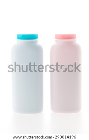 Baby powder bottle isolated on white background