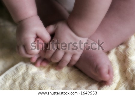 baby's hands and feet