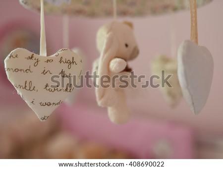 Baby's mobile - stock photo