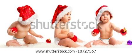baby santa 10 - stock photo