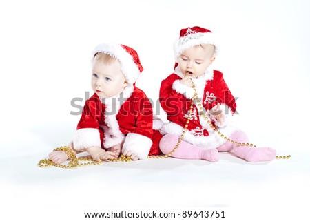 baby santa - stock photo