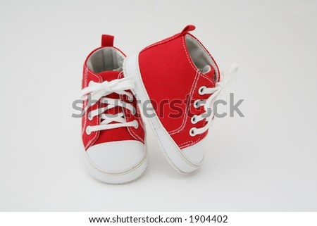 baby shoes-red