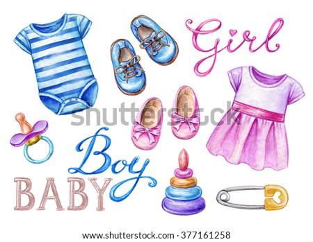Baby Shower Clip Art Newborn Girl Stock Illustration 377161258    Shutterstock