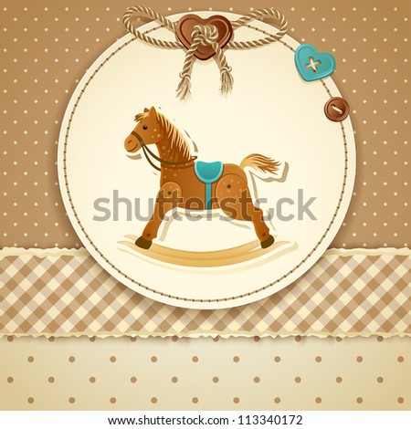 Baby Shower Invitation (boy) - raster version - stock photo