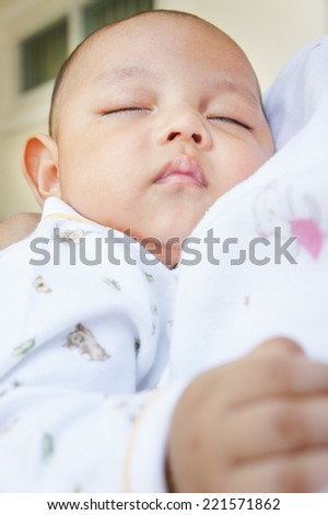 Baby sleeping  - stock photo