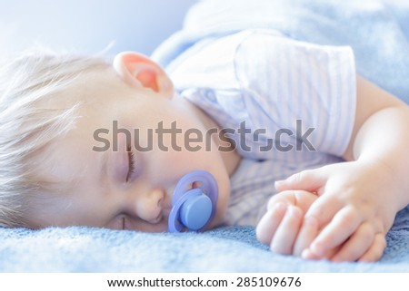 Baby sleeping - stock photo