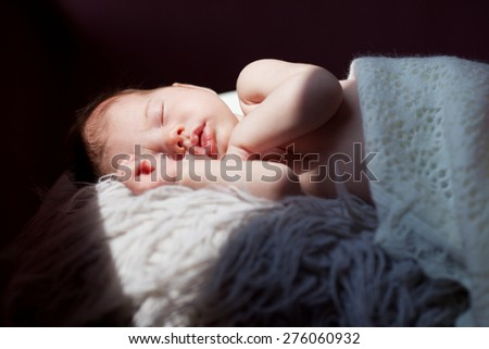 Baby sleeps - stock photo