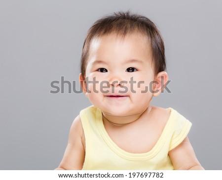 Baby smile - stock photo
