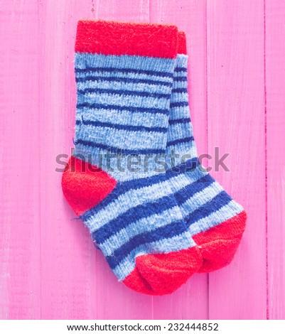 baby socks - stock photo