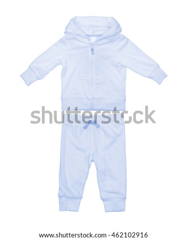 Baby suit on a white background