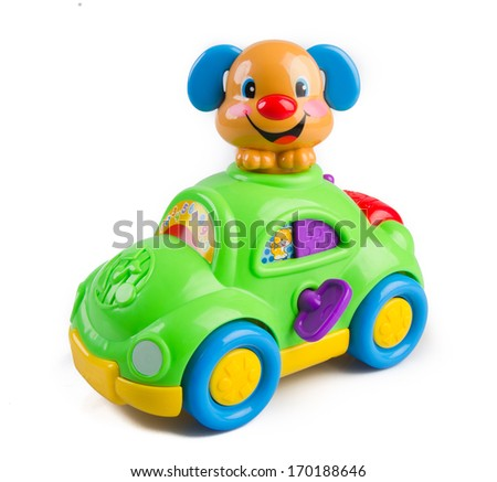 Baby toy on the white background - stock photo
