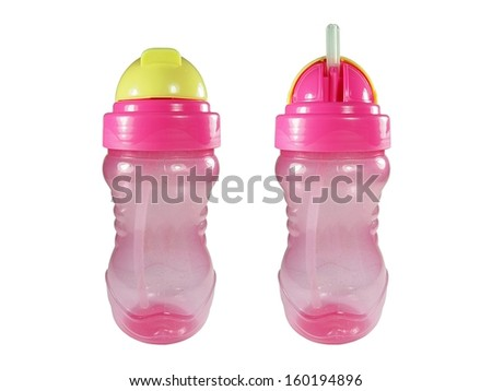 Baby training cup - stock photo