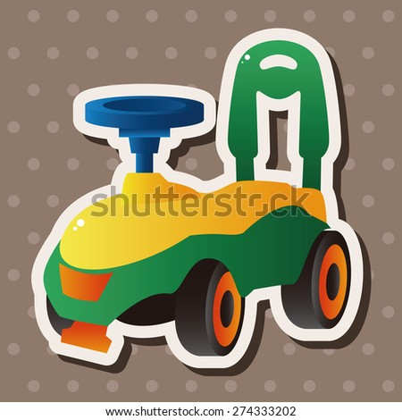 Baby walker , cartoon sticker icon