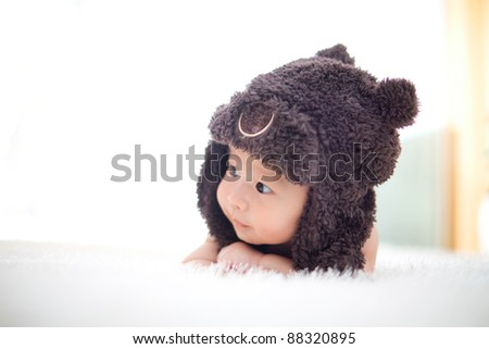 baby with hat - stock photo