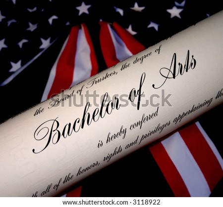 Bachelors Degree with Patriotic American Background