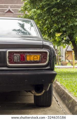 Back light of vintage car  - stock photo