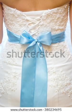 Back Bride White Lace Wedding Dress Stock Photo (Royalty Free ...
