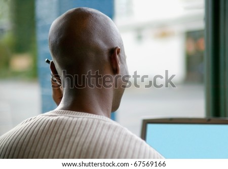 Back of businessman's head - stock photo