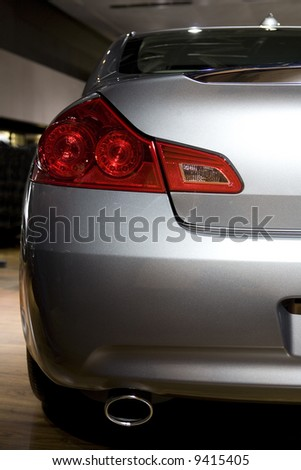 back of luxury car, detail - stock photo