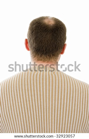 Back of middle-aged man - stock photo