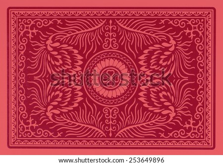 back of playing card  - stock photo