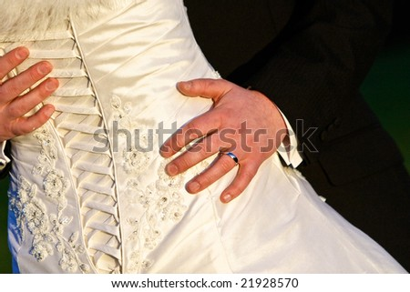 Back of Wedding Dress with Ring