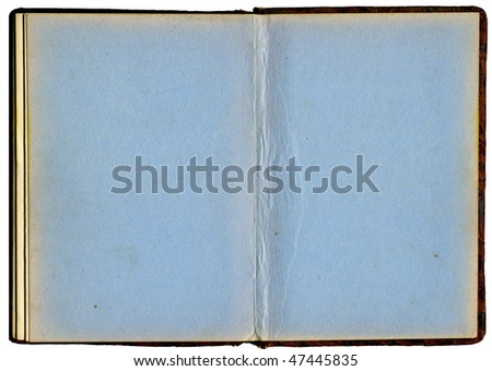 back pages of old book - stock photo