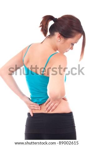 Back pain - stock photo