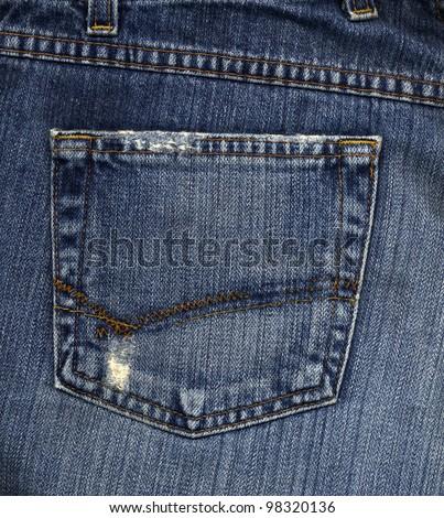 Back Pocket of Jeans - stock photo