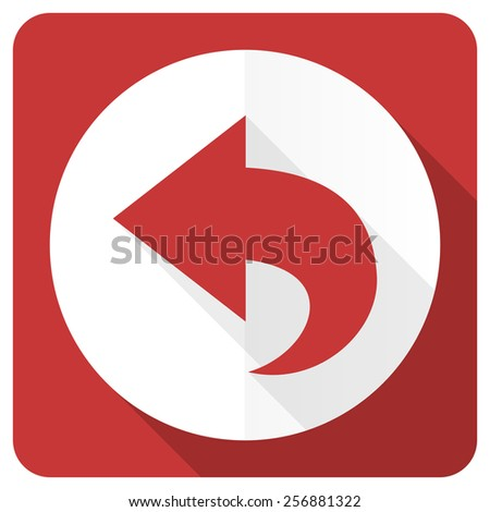Back Icon Flat Back Red Flat Icon Arrow Sign