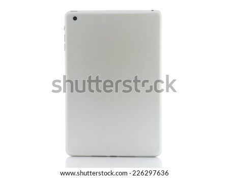 back tablet silver - stock photo