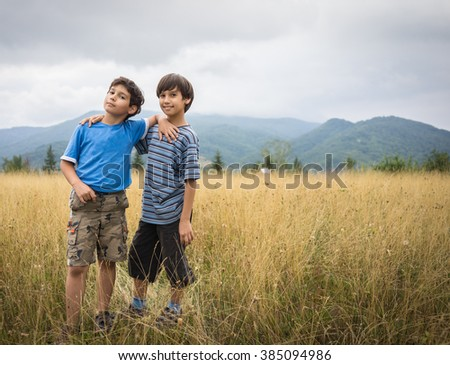 Back to nature enjoy - stock photo