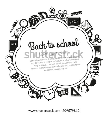 Back to school background with place for text - stock photo