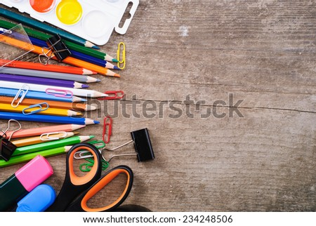 Back to school concept on grunge background - stock photo