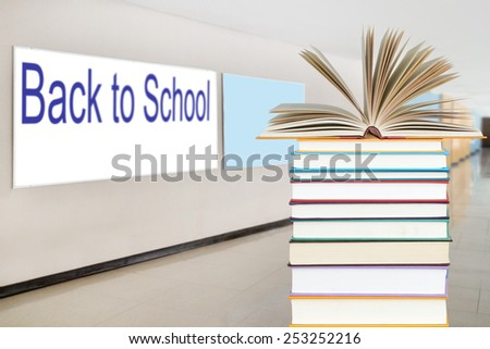 Back To School concept with stack of book