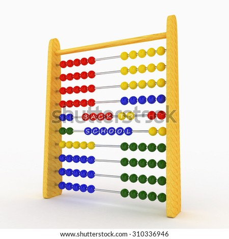 Back to School - 3d Abacus