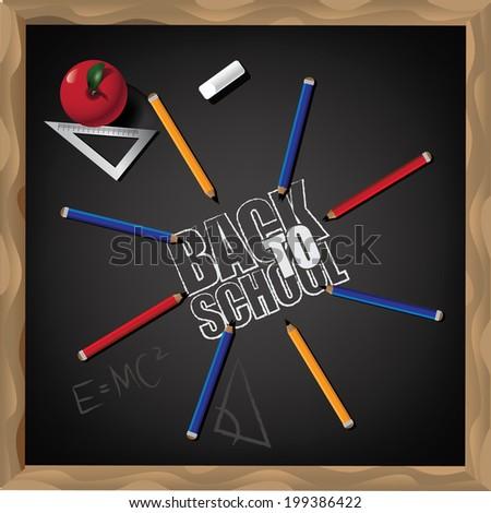 Back to school design.  - stock photo