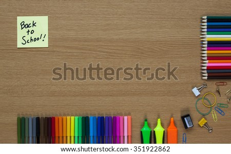 Back to School, holidays / vacation over, education and teaching background with text / copy space. - stock photo