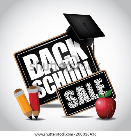 Back to school icon.  - stock photo