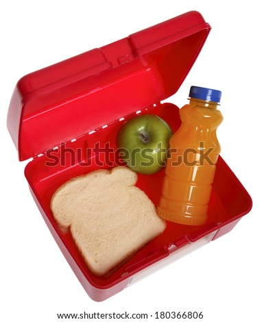 Back to School lunchbox - stock photo